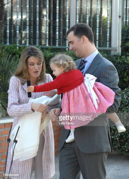 TRH Prince Felipe and Princess Letizia Infanta Leonor and Infanta Sofia