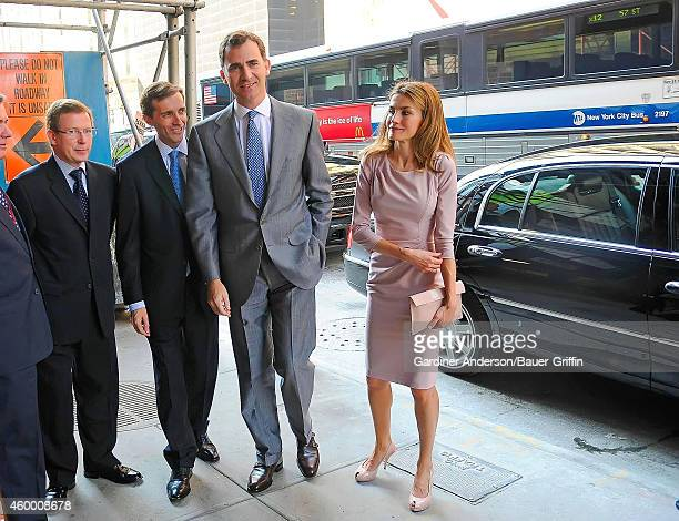 Prince Felipe and Princess Letizia of Spain are seen on June 20 2012 in New York City