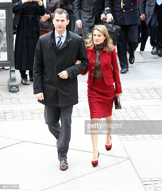 Prince Felipe and Princess Letizia of Spain visit The New York Public Library on March 16 2009 in New York City