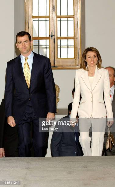 Prince Felipe and Princess Letizia preside a post graduated grants ceremony at the Royal Academy of Politics Sciences in Madrid