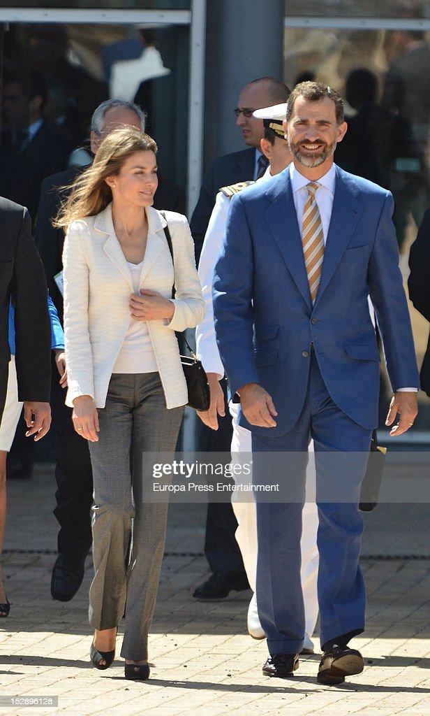 Prince Felipe and Princess Letizia visit La Gomera on September 27, 2012 in La Gomera, Spain.