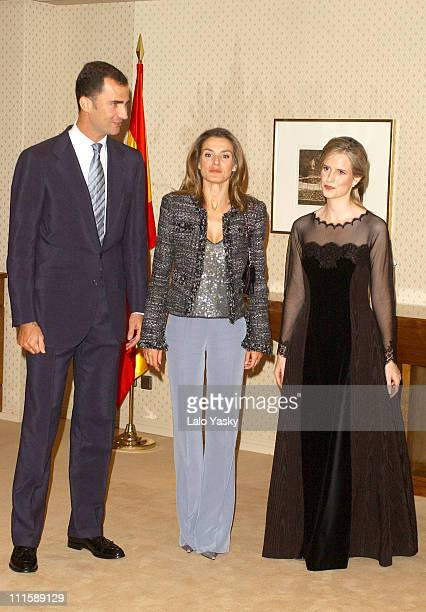 Prince Felipe and Princess Letizia with Orchestra Director Inma Shara