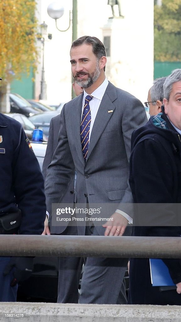 Prince Felipe attends Spanish Olympic Commitee Centenary Gala at El Canal Theatre on December 12, 2012 in Madrid, Spain.