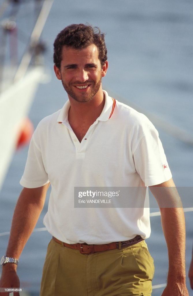 Prince Felipe in Palma, Spain on July 30th, 1995.