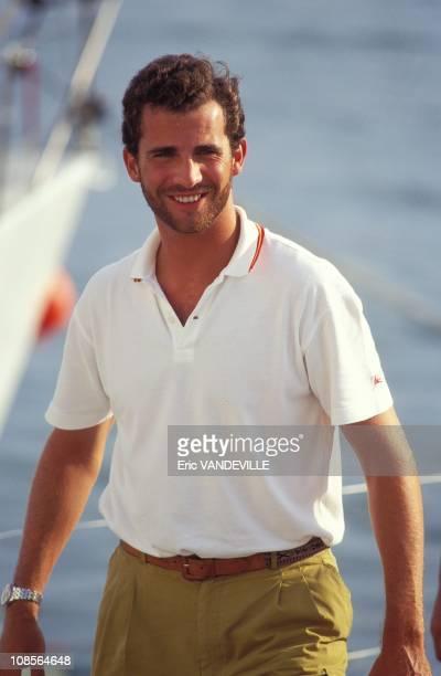 Prince Felipe in Palma Spain on July 30th 1995