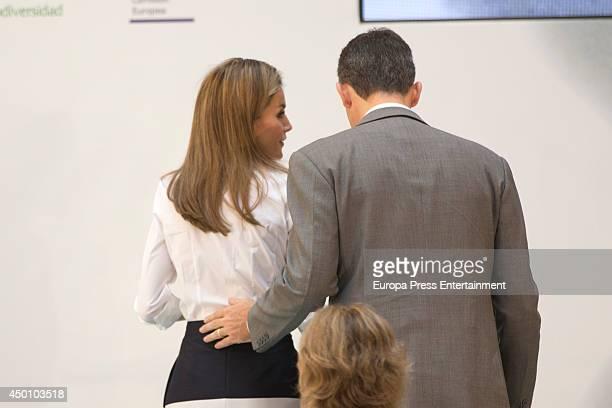Prince Felipe of Spain and Princess Letizia of Spain attend 'European Environment To Enterprise Awards' on June 5 2014 in Madrid Spain