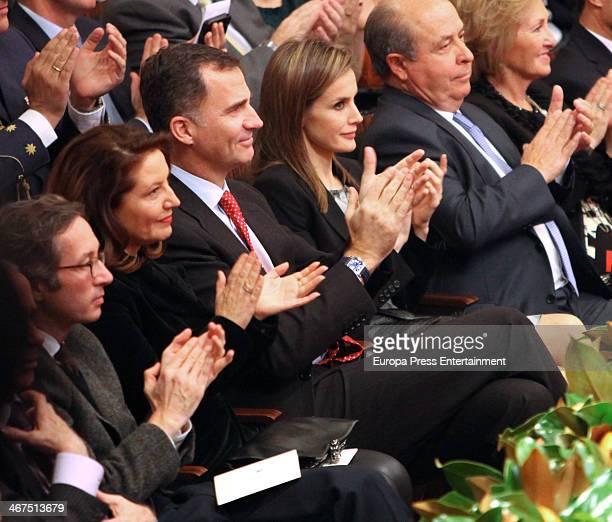 Prince Felipe of Spain and Princess Letizia of Spain attend 'Federico Lorca' International Poetry Award on February 6 2014 in Granada Spain