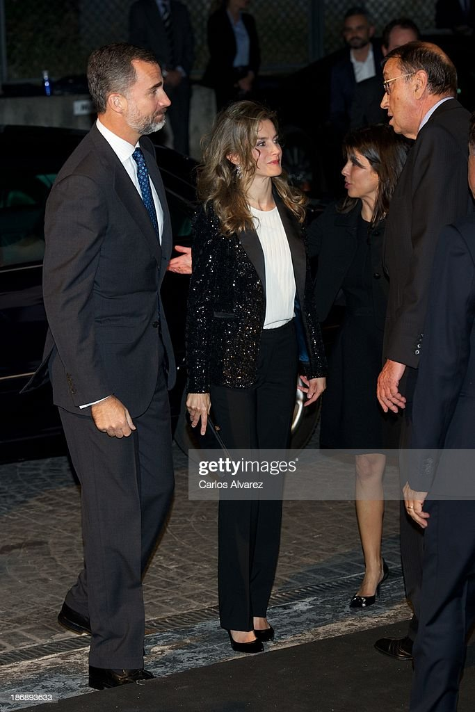 Prince Felipe of Spain and Princess Letizia of Spain attend 'La Razon' Newspaper 15th Anniversary on November 4, 2013 in Madrid, Spain.