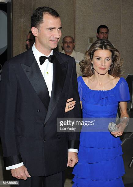 Prince Felipe of Spain and Princess Letizia of Spain attend 'Mingote' journalism award ceremony at Casa de ABC on June 19 2008 in Madrid Spain
