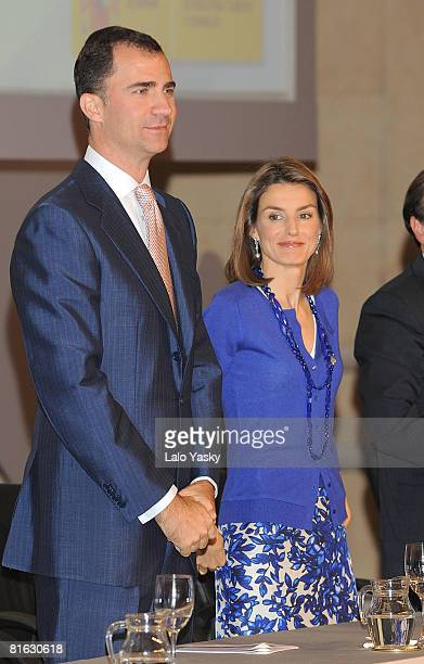 Prince Felipe of Spain and Princess Letizia of Spain attend 'Principe Felipe a la Excelencia Empresarial 2008' Awards ceremony held at the Palacio...