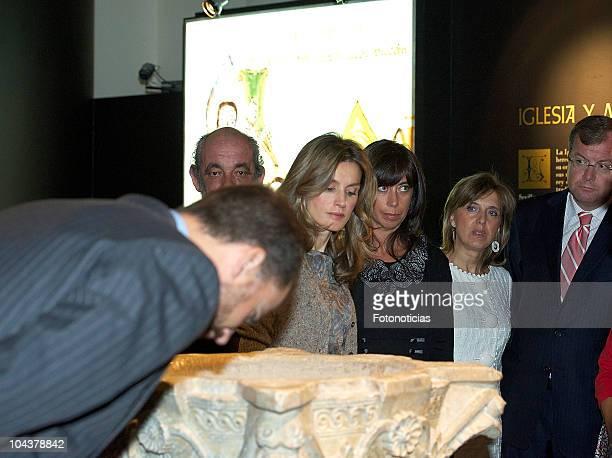 Prince Felipe of Spain and Princess Letizia of Spain attend the opening of 'In Principio Erat VerbumEl Reino de Leon y sus Beatos' exhibition on...