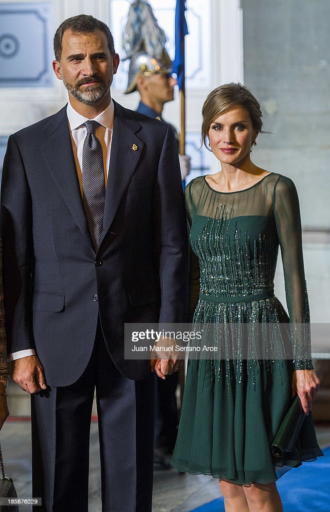 Prince Felipe of Spain and Princess Letizia of Spain attend the 'Prince of Asturias Awards 2013' ceremony at the Campoamor Theater on October 25, 2013 in Oviedo, Spain.
