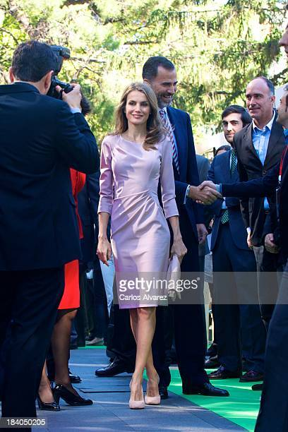 Prince Felipe of Spain and Princess Letizia of Spain attend the 'StartUp Competition' awards on October 11 2013 in Madrid Spain