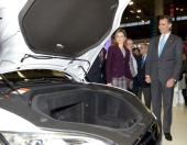 Prince Felipe of Spain and Princess Letizia of Spain attend the Mobile World Congress 2014 on February 24 2014 in Barcelona Spain The Mobile World...