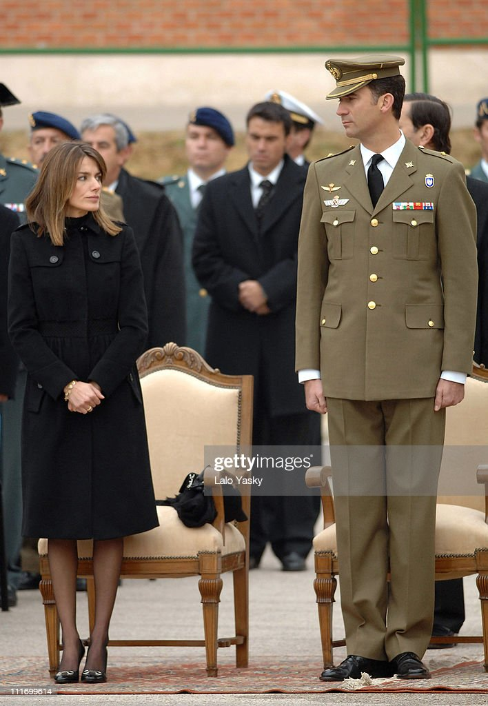 Prince Felipe of Spain and Princess Letizia of Spain preside over the State Funeral for the Guardia Civil Fernando Trapero killed by ETA in France at...