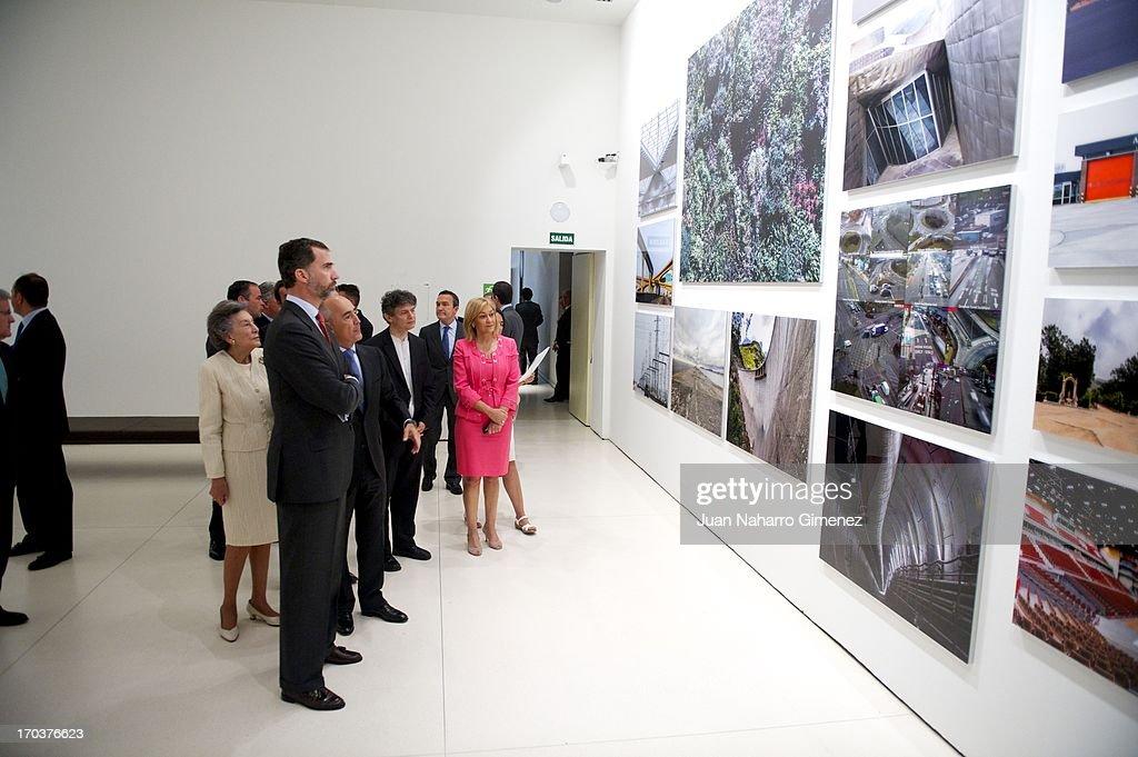 Prince Felipe of Spain attends 'Ferrovial, en la mirada de Jose Manuel Ballester' photography exhibition at Caixa Forum on June 12, 2013 in Madrid, Spain.