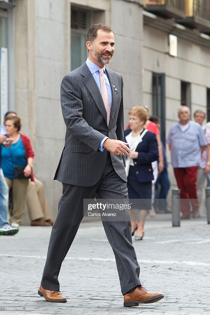 Prince Felipe of Spain attends Red Cross Fundraising Day 2012 on October 10, 2012 in Madrid, Spain.