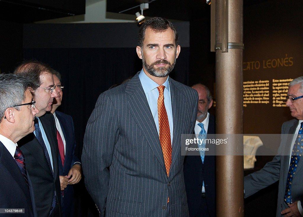 Prince Felipe of Spain attends the opening of 'In Principio Erat Verbum:El Reino de Leon y sus Beatos' exhibition on September 23, 2010 in Leon, Spain.