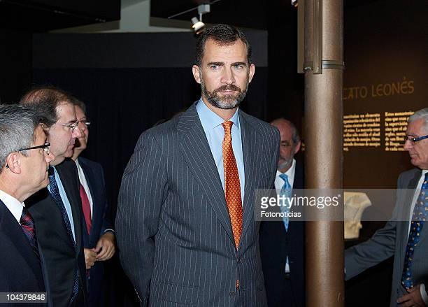 Prince Felipe of Spain attends the opening of 'In Principio Erat VerbumEl Reino de Leon y sus Beatos' exhibition on September 23 2010 in Leon Spain