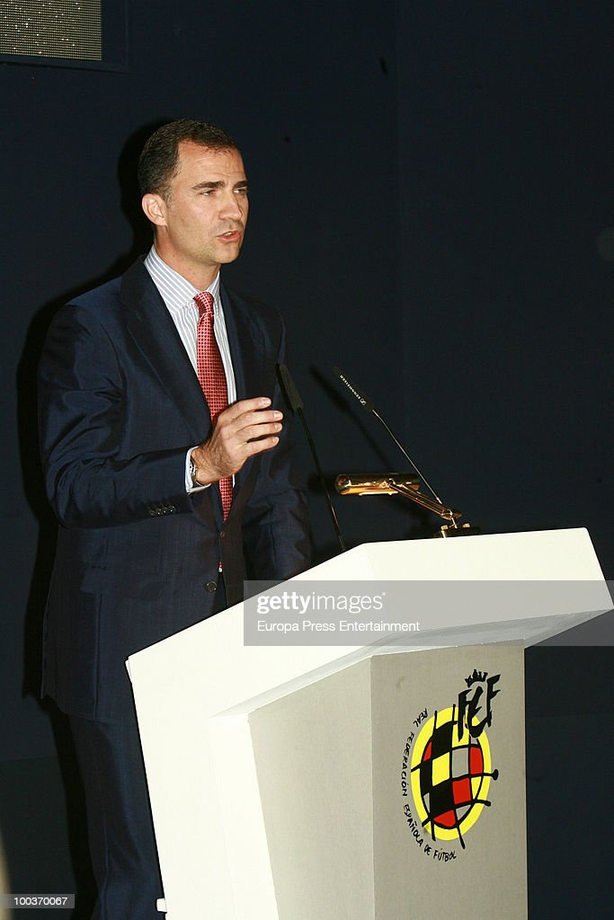 Prince Felipe of Spain attends the opening of the Spanish Football Federation Museum on May 24, 2010 in Madrid, Spain.