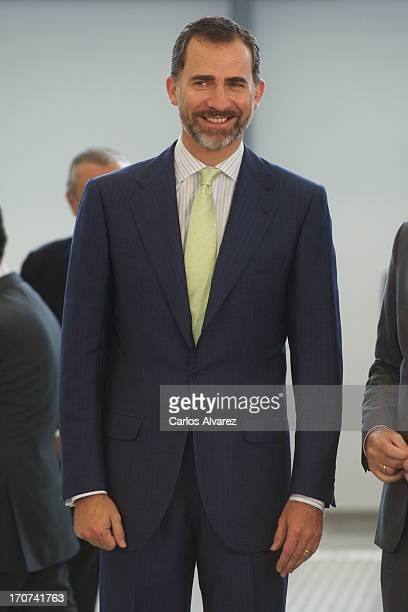 Prince Felipe of Spain officially inaugurates the new Alta Velocidad Espanola high speed Madrid to Alicante rail link on June 17 2013 in Villena...