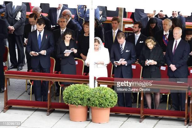 Prince Felipe of Spain Princess Letizia of Spain Henri Grand Duke of Luxembourg Maria Teresa Grand Duchess of Luxembourg Marie Aglae Princess of...