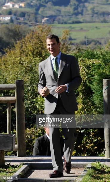 Prince Felipe of Spain visits the 2008 Asturian Village of the Year on October 25 2008 in Torazu Spain