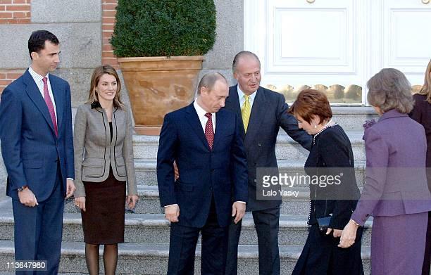 Prince Felipe Princess Letizia Vladimir Putin King Juan Carlos Liudmila Putin and Queen Sofia