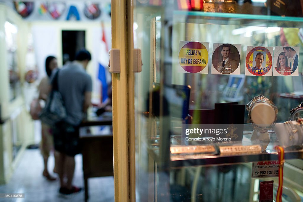 Prince Felipe souvenirs as future king of Spain are displayed in a medal shop window on June 11, 2014 in Madrid, Spain. Prince Felipe of Spain will be crowned <a gi-track='captionPersonalityLinkClicked' href=/galleries/search?phrase=Felipe+VI+of+Spain&family=editorial&specificpeople=4881076 ng-click='$event.stopPropagation()'>Felipe VI of Spain</a> on the 19th of June after his father King Juan Carlos of Spain abdicated on June 2,