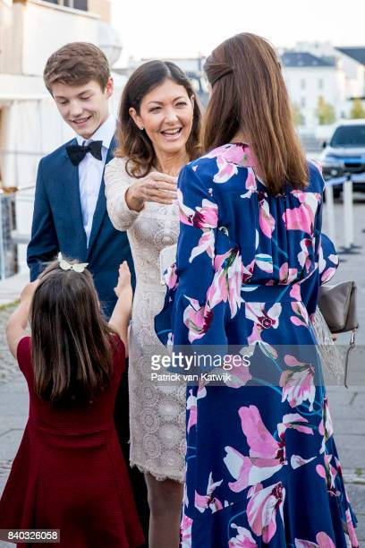 Prince Felix of Denmark Countess Alexandra of Denmark and Princess Marie of Denmark attend the 18th birthday celebration of Prince Nikolai at royal...