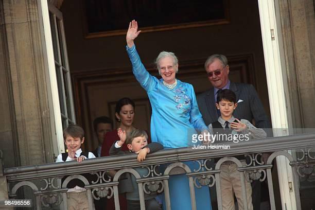 Prince Felix of Denmark Prince Christian of Denmark Queen Margrethe of Denmark and Prince Nicolai of Denmark attend Queen Margrethe's 70th Birthday...