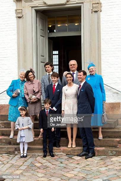Prince Felix of Denmark son of Prince Joachim and former wife Countess Alexandra together with Queen Margrethe and Prince consort Henrik and Prince...
