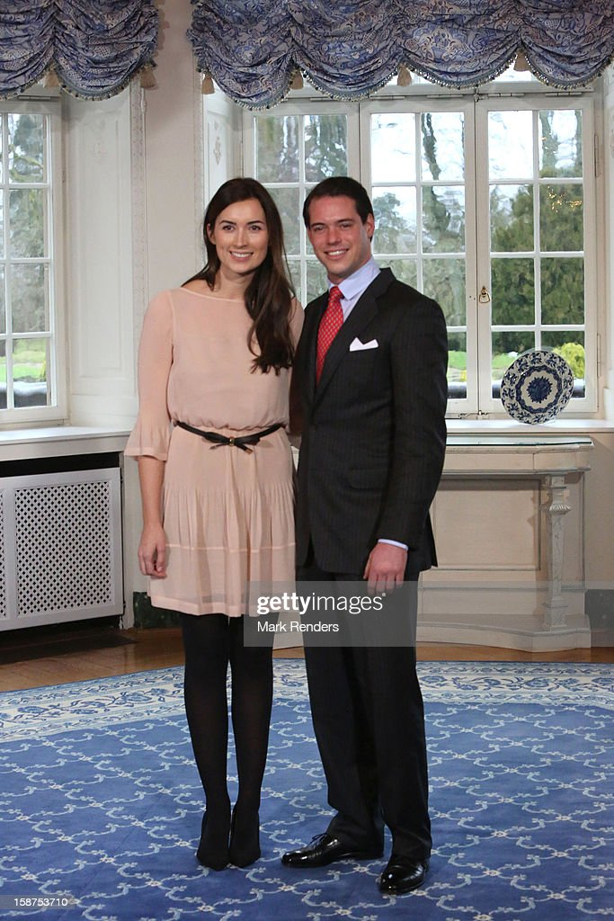 <a gi-track='captionPersonalityLinkClicked' href=/galleries/search?phrase=Prince+Felix+of+Luxembourg&family=editorial&specificpeople=6881094 ng-click='$event.stopPropagation()'>Prince Felix of Luxembourg</a> (R) and his fiancee Claire Lademacher attend a Portrait Session at Chateau De Berg on December 27, 2012 in Luxembourg, Luxembourg.