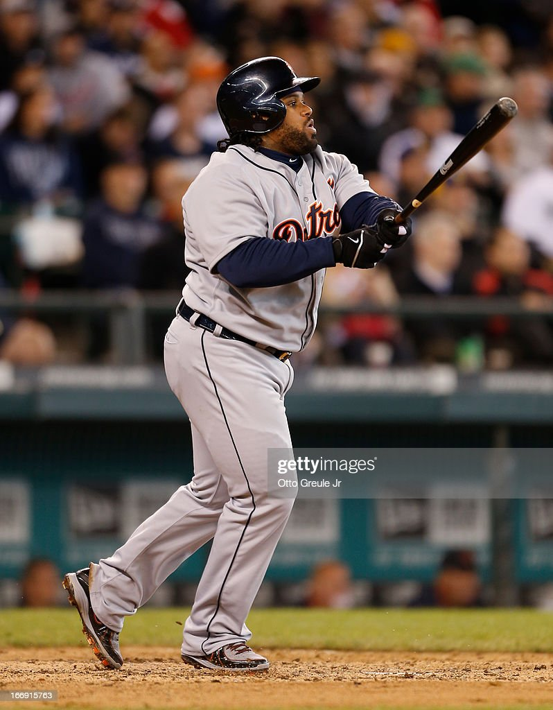 <a gi-track='captionPersonalityLinkClicked' href=/galleries/search?phrase=Prince+Fielder&family=editorial&specificpeople=209392 ng-click='$event.stopPropagation()'>Prince Fielder</a> #28 of the Detroit Tigers doubles in the seventh inning against the Seattle Mariners at Safeco Field on April 18, 2013 in Seattle, Washington.