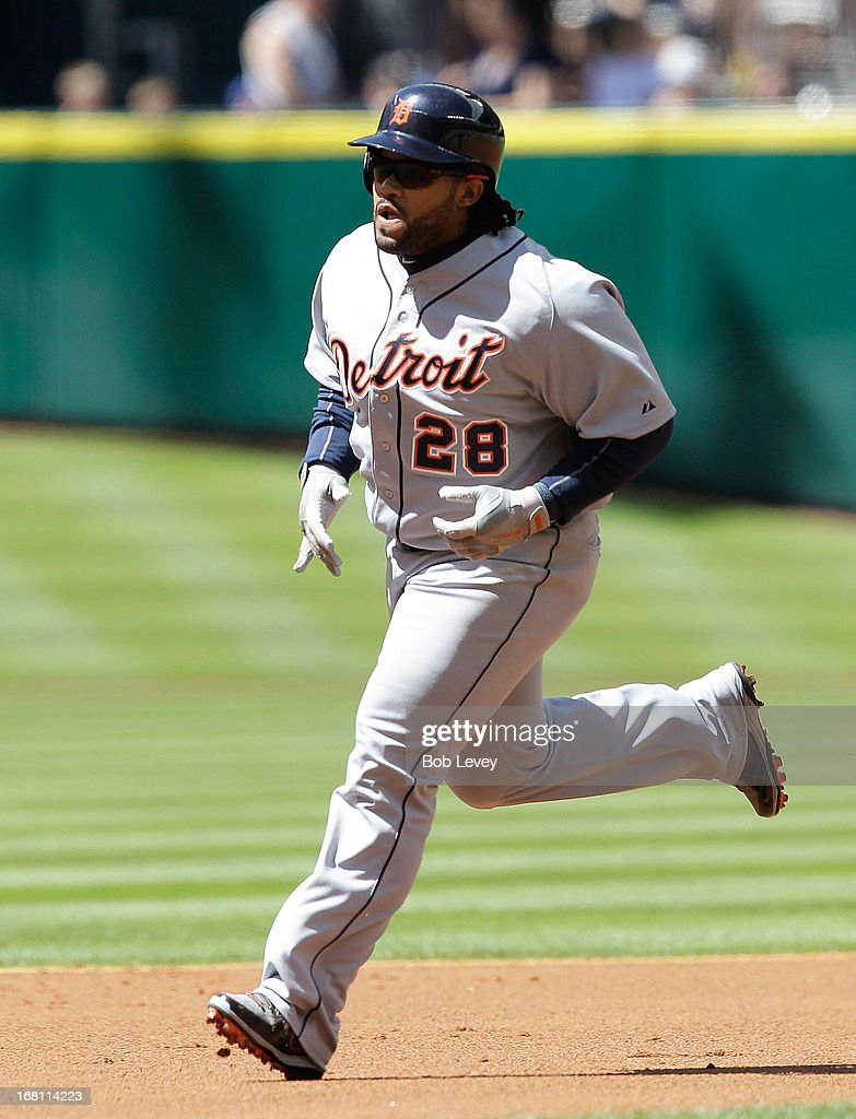 <a gi-track='captionPersonalityLinkClicked' href=/galleries/search?phrase=Prince+Fielder&family=editorial&specificpeople=209392 ng-click='$event.stopPropagation()'>Prince Fielder</a> #28 of the Detroit Tigers rounds the bases after hitting a home run in the first inning against the Houston Astros at Minute Maid Park on May 5, 2013 in Houston, Texas.