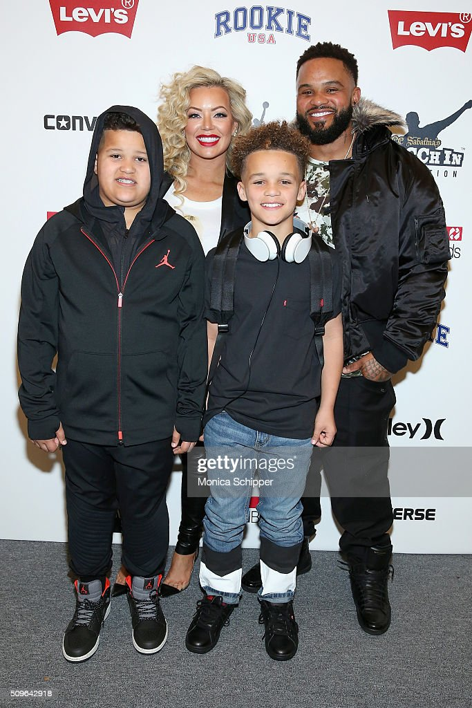 <a gi-track='captionPersonalityLinkClicked' href=/galleries/search?phrase=Prince+Fielder&family=editorial&specificpeople=209392 ng-click='$event.stopPropagation()'>Prince Fielder</a> (R) poses backstage at the Rookie USA Presents Kids Rock! Fall 2016 fashion show during New York Fashion Week: The Shows at The Dock, Skylight at Moynihan Station on February 11, 2016 in New York City.