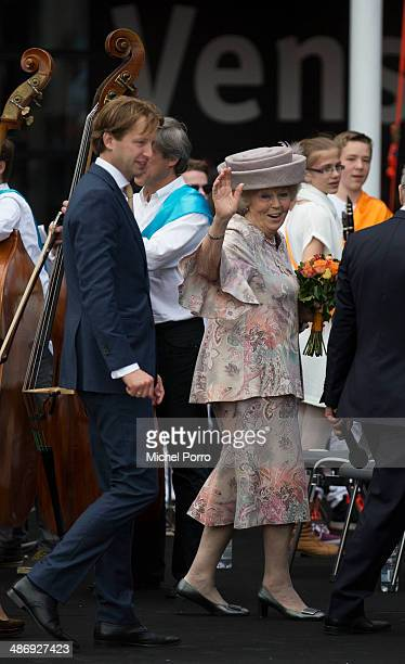 Prince Floris of The Netherlands and Princess Beatrix of The Netherlands attend King's Day on April 26 2014 in Amstelveen Netherlands