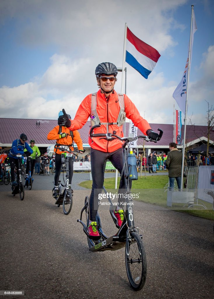 Prince Floris of The Netherlands at the Hollandse 100 ice skating and cycling fund raising event at Flevonice on March 5, 2017 in Biddinghuizen, Netherlands. The Hollandse 100 is to raise money for the foundation against lymphoma Lymph&Co founded by Prince Bernhard who survived lymphoma.