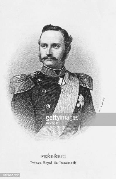 Prince Frederick of Denmark wearing military uniform circa 1875