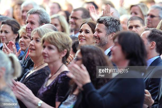 Prince Frederik and Princess Mary of Denmark attend the 40th Anniversary Gala Concert for the Sydney Opera House on October 27 2013 in Sydney...