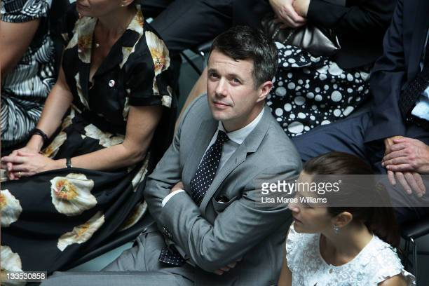 Prince Frederik and Princess Mary of Denmark attend the opening of 'Curating Cities SydneyCopenhagen' at Customs House on November 20 2011 in Sydney...