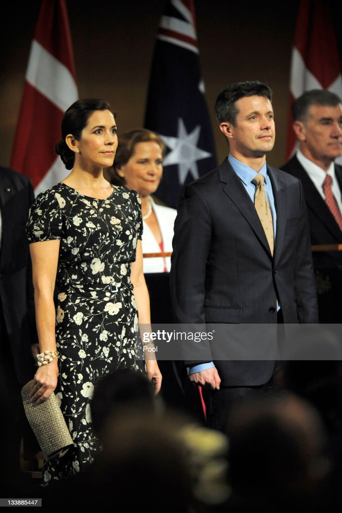 Prince Frederik of Denmark and Princess Mary of Denmark are welcomed during a luncheon given by Prime Minister Julia Gillard at Parliament House on November 22, 2011 in Canberra, Australia. Princess Mary and Prince Frederik are on their first official visit to Australia since 2008. The Royal visit begins in Sydney, before heading to Melbourne, Canberra and Broken Hill.