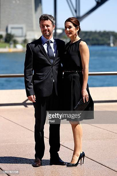 Prince Frederik of Denmark and Princess Mary of Denmark attend the launch of 'MADE' and 'Architecture Makes the City' at the Sydney Opera House on...