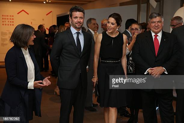 Prince Frederik of Denmark and Princess Mary of Denmark attend the launch of 'MADE' and 'Architecture Makes the City' with Opera House CEO Louise...