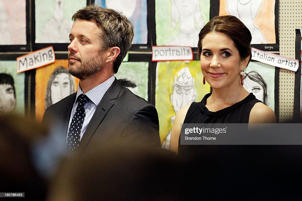 <a gi-track='captionPersonalityLinkClicked' href=/galleries/search?phrase=Prince+Frederik+of+Denmark&family=editorial&specificpeople=171286 ng-click='$event.stopPropagation()'>Prince Frederik of Denmark</a> and Princess Mary of Denmark attend the Premier's Reading Challenge at Five Dock primary school on October 25, 2013 in Sydney, Australia. Prince Frederik and Princess Mary will visit Sydney for five days and will attend events to celebrate the 40th anniversary of the Sydney Opera House and the Danish architect who designed the landmark, Jorn Utzen.