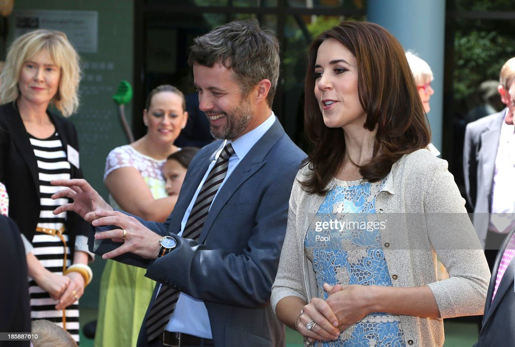 <a gi-track='captionPersonalityLinkClicked' href=/galleries/search?phrase=Prince+Frederik+of+Denmark&family=editorial&specificpeople=171286 ng-click='$event.stopPropagation()'>Prince Frederik of Denmark</a> and Princess Mary of Denmark meet families at the Children's Hospital during a visit to the Australian Twin Registry (ATR) on October 26, 2013 in Sydney, Australia. Prince Frederik and Princess Mary will visit Sydney for five days and will attend events to celebrate the 40th anniversary of the Sydney Opera House and the Danish architect who designed the landmark, Jorn Utzen.