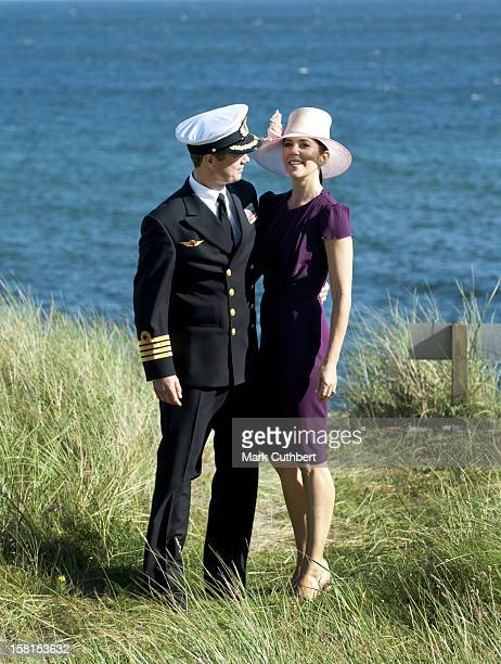 Prince Frederik Of Denmark And Princess Mary Of Denmark Visit Former Royal Summer House Klitgarden In Skagen During Their Summer Cruise