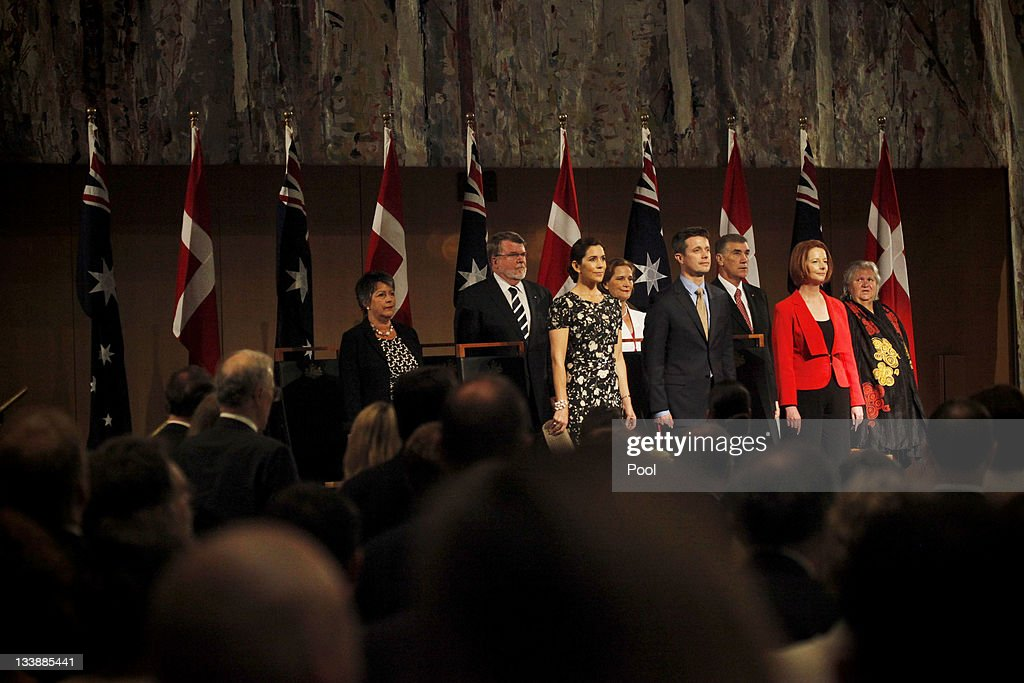 Prince Frederik of Denmark, Princess Mary of Denmark and Australian Prime Minister Julia Gillard are welcomed during a luncheon at Parliament House on November 22, 2011 in Canberra, Australia. Princess Mary and Prince Frederik are on their first official visit to Australia since 2008. The Royal visit begins in Sydney, before heading to Melbourne, Canberra and Broken Hill.