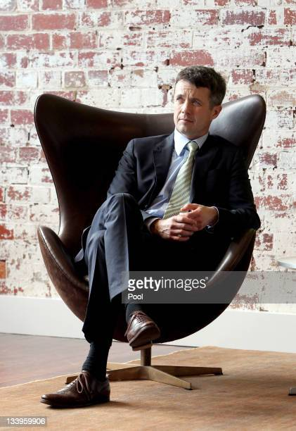 Prince Frederik of Denmark visits Corporate Culture and Cult on November 23 2011 in Melbourne Australia Princess Mary and Prince Frederik are on...
