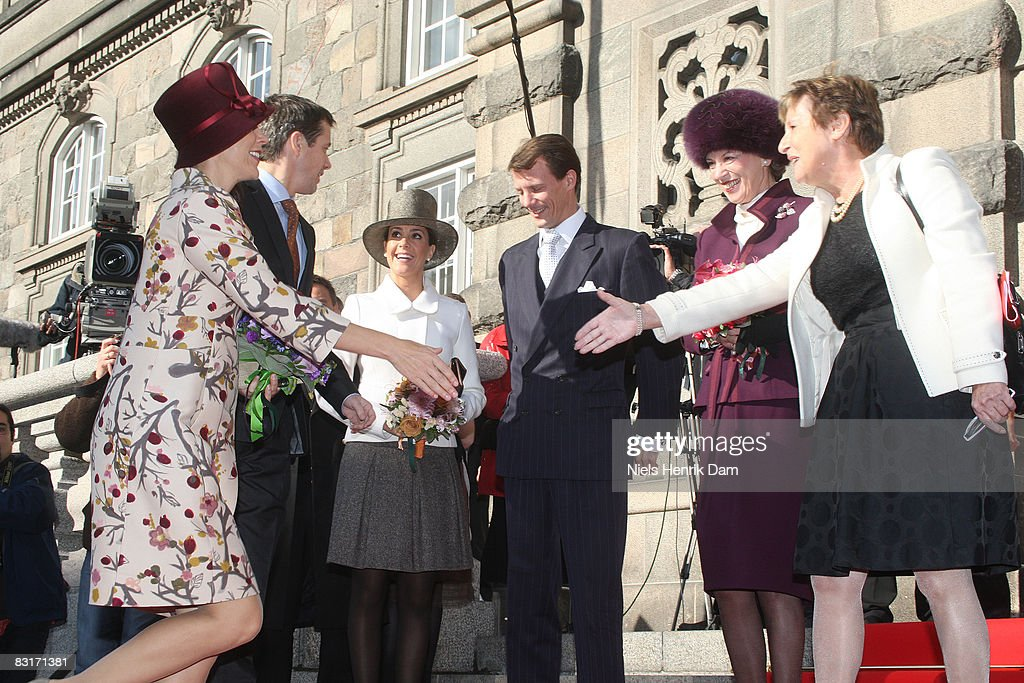Prince Frederik, Princess Mary, Princess Marie and Prince Joachim and Princess Benedikte of Denmark attend the opening of the Folketingets parliamentary session at Christiansborg Castle on October 7, 2008 in Copenhagen, Denmark.